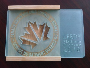 LEED for Homes plaque